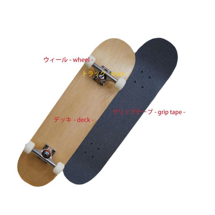 スケートボード選び方 構造 デッキ ウィール トラック