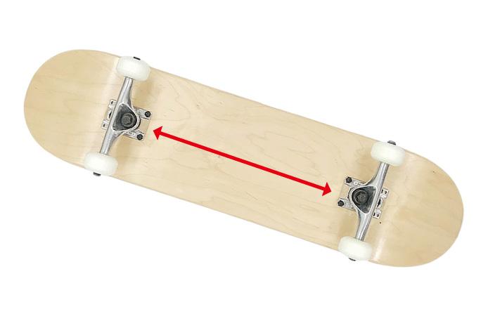 スケートボード選び方 デッキ ホイールベース